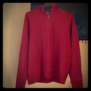 Men's Polo Ralph Lauren Red LS shirt.